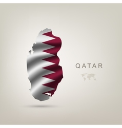Flag of qatar as a country vector
