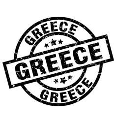 greece black round grunge stamp vector image vector image