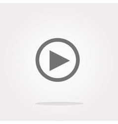 multimedia play icon button design element vector image