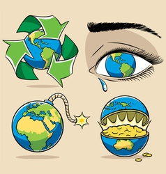 ecology concepts vector image