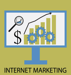 Internet marketing icon flat design vector image