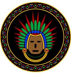 mayan mask vector image vector image