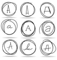 scribble circles or highlights vector image vector image