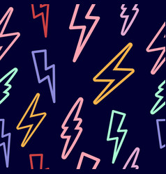 seamless texture with lightning on vector image vector image