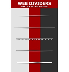 Set of abstract web dividers vector