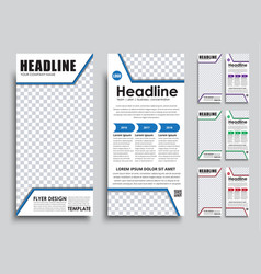 template flyer size of 210x99 mm vector image