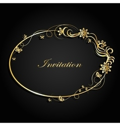 Decorative Gold Frame vector image vector image