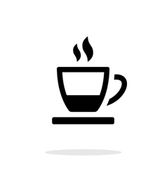 Ending tea cup icon on white background vector image vector image