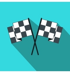 Finishing flags flat icon vector image