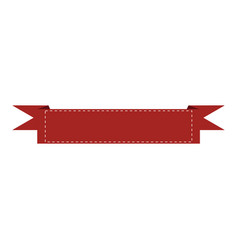 isolated empty ribbon vector image