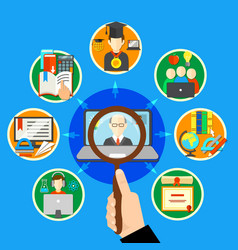 searching e learning composition vector image