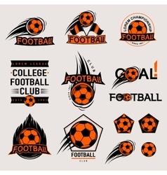 Set of color vintage modern and retro logo badges vector image