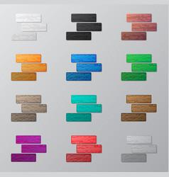 set of colorful bricks vector image