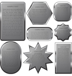 Silver label frame EPS 10 vector image vector image