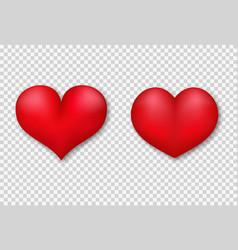 3d heats set vector image