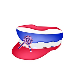 A Cap of Thai Flag on White Background vector