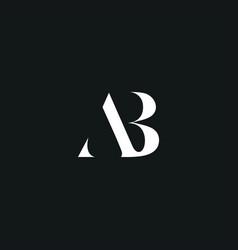 Ab initial logo design vector