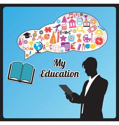 Abstract concept of education vector