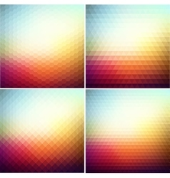 abstract geometric background with triangle vector image