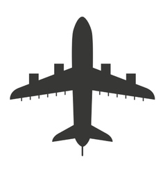 airplane fly silhouette isolated icon vector image