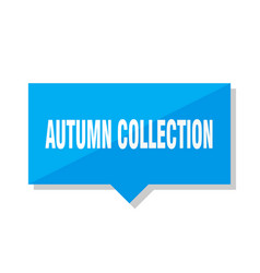 Autumn collection price tag vector