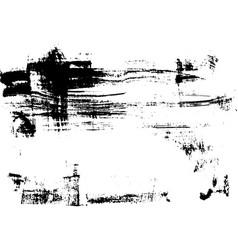 Black print brush texture on white paper vector