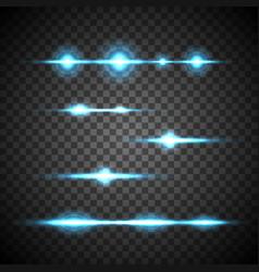 Blue flash set vector