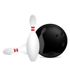 Bowling set vector