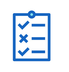 business to do list filled line icon blue color vector image