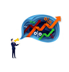 businessman with megaphone in vector image