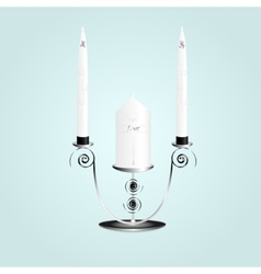 Candle in a candlestick vector