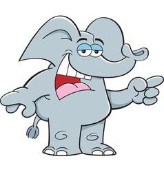 Cartoon elephant ponting vector image