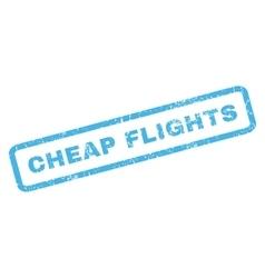 Cheap Flights Rubber Stamp vector