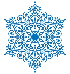 Christmas snowflake design winter embroidery vector