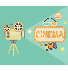 Cinema concept in retro style vector