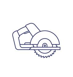Circular saw line icon on white vector