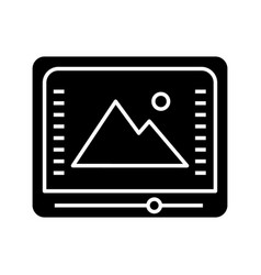 Color correction and grading glyph icon vector
