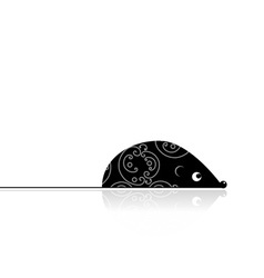 Computer mouse black for your design vector