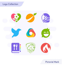 creative pictorial logo collection simple and vector image