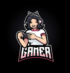 Cute gamer vector