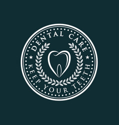 dental care-icon vector image