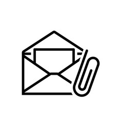 email attachment vector image