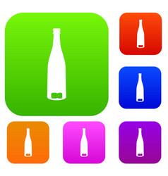 empty wine bottle set collection vector image