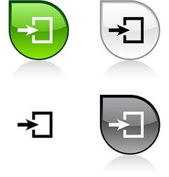 Entrance button vector image