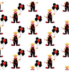 Evil clown seamless pattern vector