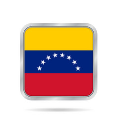 flag of venezuela shiny black round button vector image