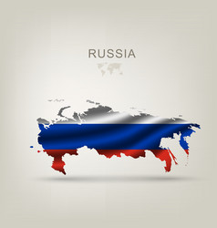 flag russia as a country vector image