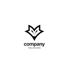 fox head logo design concept vector image