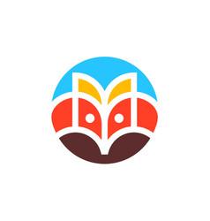 Fox head logo icon vector