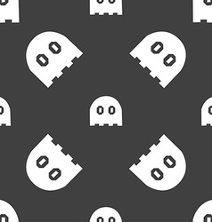 Ghost icon sign Seamless pattern on a gray vector